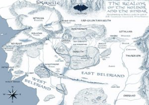 Beleriand - Realms by Sirielle map